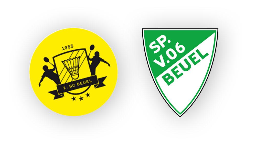 Sponsorenpartner 1.BC Beuel, Badmintonverein und SV Beuel, Fußballverein Sportfabrik Bonn