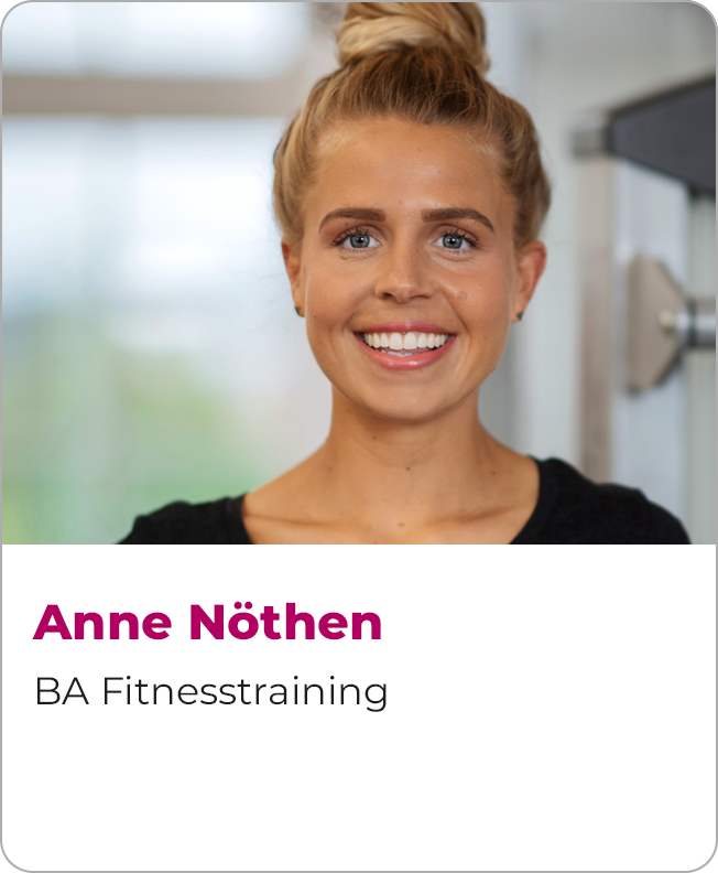 Anne Nöthen, BA Fitnesstraining und Marketingassistentin, Team Baskets Sportfabrik und Spprtfabrik Bonn