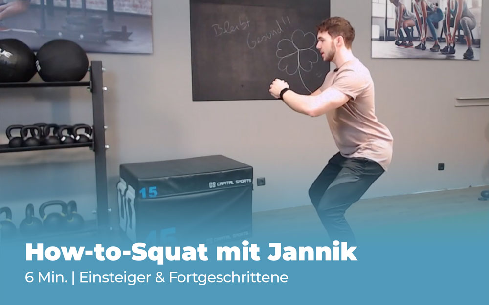 Workout How to Squat mit Jannik