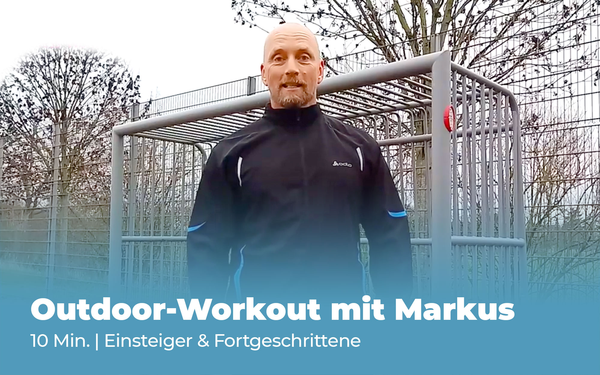 Outdoor-Workout mit Markus